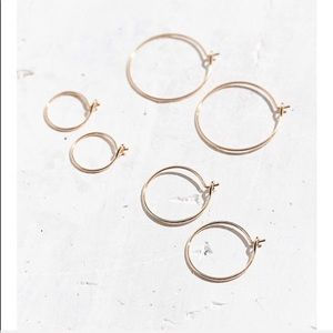 Urban brass wire hoop earring set